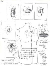 Pencil: dress form sculpture notes